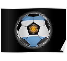 Argentina - Argentine Flag - Football or Soccer Poster
