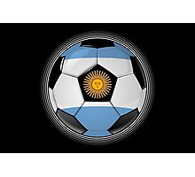 Argentina - Argentine Flag - Football or Soccer Photographic Print