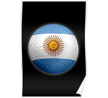 Argentina - Argentine Flag - Football or Soccer 2 Poster