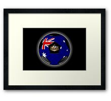 Australia - Australian Flag - Football or Soccer Framed Print