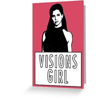 CORDELIA CHASE: Visions Girl Greeting Card