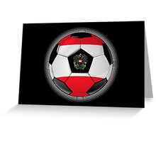 Austria - Austrian Flag - Football or Soccer Greeting Card