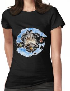 Spinning Totoro Womens Fitted T-Shirt