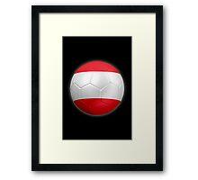 Austria - Austrian Flag - Football or Soccer 2 Framed Print