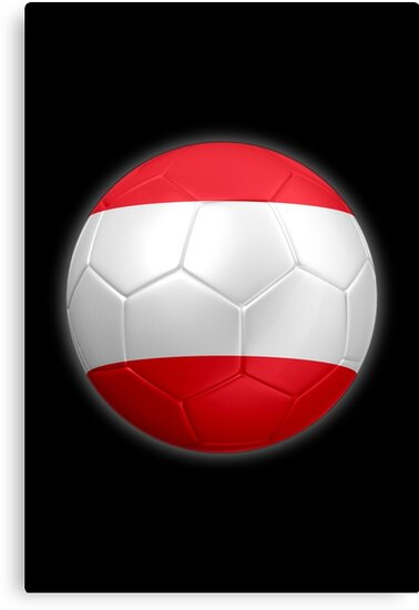 Austria - Austrian Flag - Football or Soccer 2 by graphix