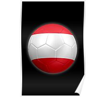 Austria - Austrian Flag - Football or Soccer 2 Poster