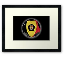 Belgium - Belgian Flag - Football or Soccer Framed Print
