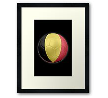 Belgium - Belgian Flag - Football or Soccer 2 Framed Print