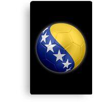 Bosnia and Herzegovina - Bosnian Flag - Football or Soccer 2 Canvas Print