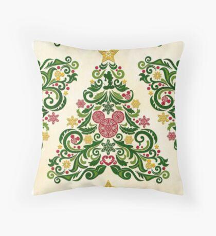 Disney Christmas Tree Throw Pillow