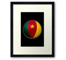Cameroon - Cameroonian Flag - Football or Soccer 2 Framed Print