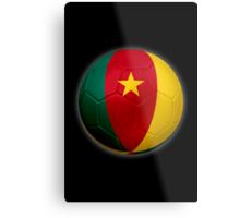 Cameroon - Cameroonian Flag - Football or Soccer 2 Metal Print