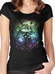 the big friend nebula - rainbow version Women's Fitted Scoop T-Shirt