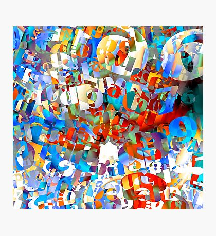Fun Wit Numbers Photographic Print