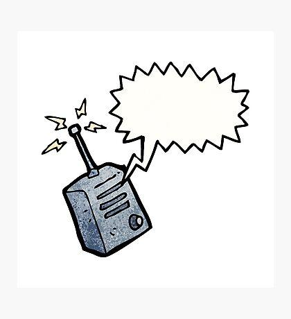 cartoon walkie talkie Photographic Print