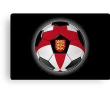 England - English Flag - Football or Soccer Canvas Print