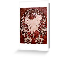 Scarlet and Violet Greeting Card