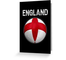 England - English Flag - Football or Soccer Ball & Text 2 Greeting Card