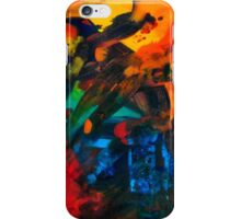 Red Abstract Painting iPhone Case/Skin