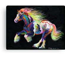 Trail Of Hearts Pony Canvas Print