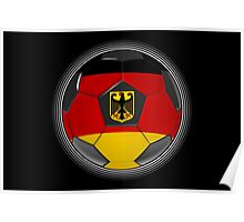 Germany - German Flag - Football or Soccer Poster