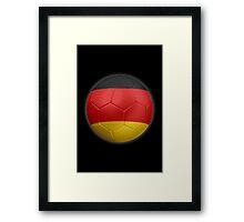 Germany - German Flag - Football or Soccer 2 Framed Print