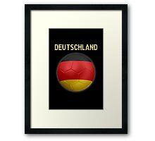 Deutschland - German Flag - Football or Soccer Ball & Text 2 Framed Print