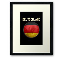 Deutschland - German Flag - Football or Soccer Ball & Text 2 Framed Print