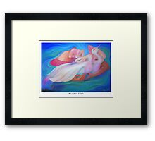 Me Times Three Framed Print