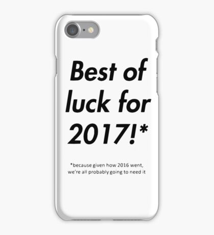 2017 - Happy New Year Greeting Card iPhone Case/Skin