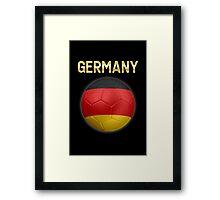 Germany - German Flag - Football or Soccer Ball & Text 2 Framed Print