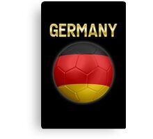 Germany - German Flag - Football or Soccer Ball & Text 2 Canvas Print