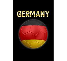 Germany - German Flag - Football or Soccer Ball & Text 2 Photographic Print