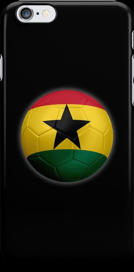 Ghana - Ghanaian Flag - Football or Soccer 2 by graphix