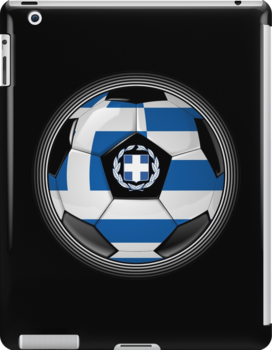 Greece - Greek Flag - Football or Soccer by graphix