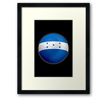 Honduras - Honduran Flag - Football or Soccer 2 Framed Print