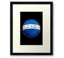 Honduras - Honduran Flag - Football or Soccer 2 Framed Print