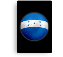 Honduras - Honduran Flag - Football or Soccer 2 Canvas Print
