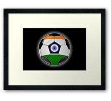 India - Indian Flag - Football or Soccer Framed Print