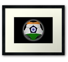 India - Indian Flag - Football or Soccer Framed Print
