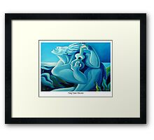 Sing Blue Hawaii Framed Print