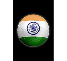 India - Indian Flag - Football or Soccer 2 Photographic Print