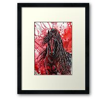 "Friesian Stallion - ""The Wizzard"" Framed Print"