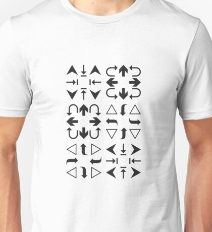 Arrows Black and White Unisex T-Shirt