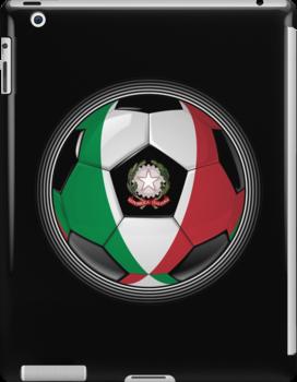 Italy - Italian Flag - Football or Soccer by graphix