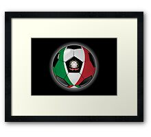 Italy - Italian Flag - Football or Soccer Framed Print