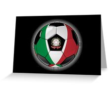 Italy - Italian Flag - Football or Soccer Greeting Card