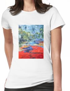 Red in the Landscape Womens Fitted T-Shirt