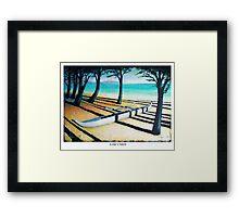 Lone Canoe Framed Print