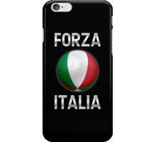 Forza Italia - Italian Flag - Football or Soccer Ball & Text 2 iPhone Case/Skin